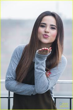 Becky G poses for pictures outside during her visit to Berlin, Germany on Saturday afternoon (November 15).