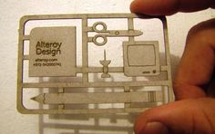 If i owned a laser cutter, this would be my business card. Post image for Alteroy Design's Die Cut Business Card