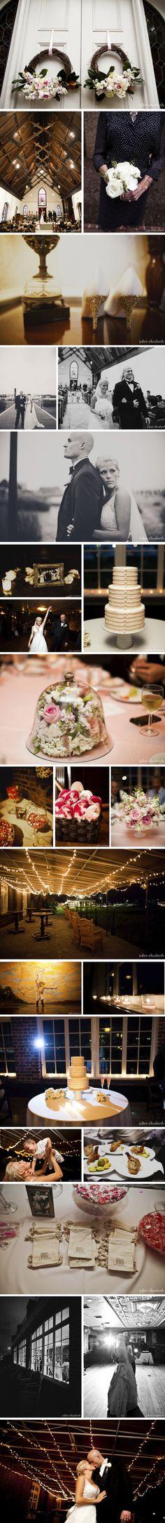 Historic Rice Mill Wedding | Charleston Weddings | The Wedding Row | Could DIY something like this easily