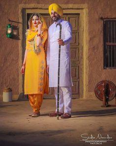 Dhillon⭐❤ Punjabi Wedding Suit, Punjabi Wedding Couple, Punjabi Couple, Punjabi Bride, Sikh Wedding, Wedding Suits, Pre Wedding Poses, Pre Wedding Shoot Ideas, Wedding Couple Poses Photography