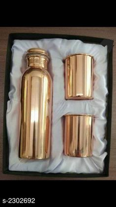 Bottles & Jugs  Water Bottle  & Glass (Pack Of 3) Material: Pure Copper Capacity:  Bottle - 950 ml , Glass - 250 ml. Free Mask  Description:  It Has 1 Piece Of Water Bottle & 2 Pieces Of Glass   Work :Copper Polish Sizes Available: Free Size *Proof of Safe Delivery! Click to know on Safety Standards of Delivery Partners- https://ltl.sh/y_nZrAV3  Catalog Rating: ★4 (489)  Catalog Name: Free Mask Elite Useful Pure Copper Bottle & Jugs, glasses Vol 2 CatalogID_307048 C130-SC1124 Code: 306-2302692-