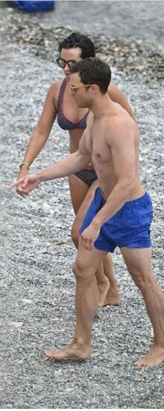 Amelia Warner and Jamie Dornan. Paloma Beach, France. 7/12/16