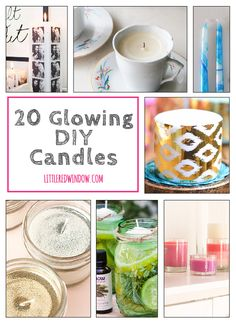 You'll love these 20 gorgeous glowing DIY Candle projects! Diy Candle Projects, Diy Craft Projects, Fun Crafts, Projects To Try, Diy Candle Labels, Decorated Flower Pots, Spode Christmas Tree, Color Plan, Diy Candles