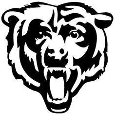 bears logo printable art free pinterest bear logo bears and rh pinterest com chicago bears logo clipart Chicago Bears Logo Stencil