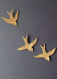We fly together Painting Gold porcelain wall art swallows Ceramic sculpture Gold birds Bathroom kitchen bedroom art Original Artwork-Support for customized products Metal Bird Wall Art, Ceramic Wall Art, Ceramic Birds, Porcelain Ceramic, Metal Art, Wall Sculptures, Sculpture Art, Bird Bathroom, Flying Together