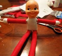 Elf on the shelf DIY Elf, only $6 to make for Birthday Elf on the Shelf Kohler Style!