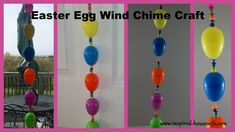 Easter Egg Wind Chime Craft - Kids Easter Egg Craft - beads, plastic Easter eggs. www.inspired-housewife.com