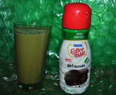 Here's a healthy dose of March for your NutriBullet , a Coffee-Mate Girl Scouts Thin Mints green smoothie recipe.