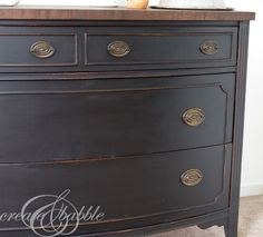 Painted Dresser with MMS Milk Paint in Typewriter. Tips for painting with milk…