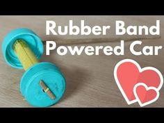 How to make a Rubber Band powered Car - ( Homemade Toy) - YouTube