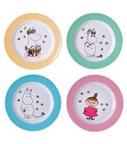 Martinex Muumi pastelli lautaset 4kpl