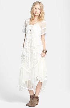 Elson Mixed Lace Maxi Dress - Lyst