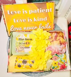 Excited to share this item from my shop: Religious Gift Box. Love is patient love is kind Gift Box.