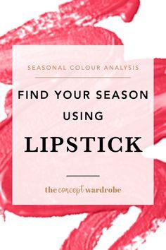 Seasonal Colour Analysis Using Lipstick - the concept wardrobe - Seasonal Colour Analysis Using Lipstick – the concept wardrobe - Winter Lipstick, Summer Lipstick, Best Lipstick Color, Lipstick Colors, Lip Colors, Soft Autumn Color Palette, Seasonal Color Analysis, Color Psychology, Psychology Facts
