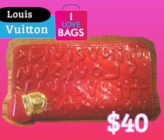 $40 Clutch/Wallet Vernis   Bolsa de embrague/Cartera Vernis