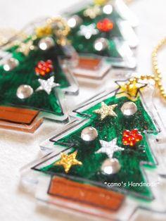 【 プラ板でクリスマス工作 キラキラつけちゃいました♪ 】 : ちくちくのへや  ~ちょこっとかわいい手作りのすすめ♪~