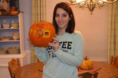 Submitted by Victoria Ricciardi (Fall 2015) -- My pumpkin shows my opportunity cost for this project. I was willing to forego watching my favorite TV show for a 1% point extra credit on my final grade.