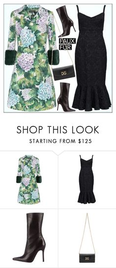 """""""#fauxfur"""" by shoaleh-nia ❤ liked on Polyvore featuring Dolce&Gabbana"""