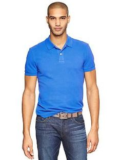 Modern pique polo - The modern polo has a smart new fit with a modern placket, tailored silhouette, and supremely soft fabric.