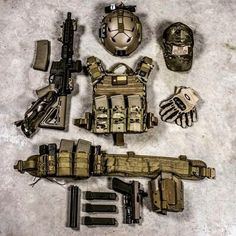 Plate carrier + War belt with magazines                                                                                                                                                                                 More