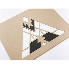This card features a minimal geometric papercut design and is great for everyday…