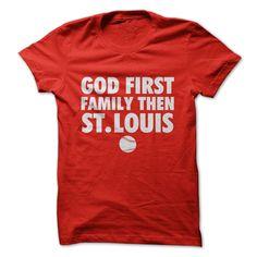 God, Family, St. Louis #sport #tshirt