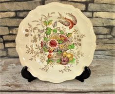 Royal Doulton Hampshire Salad Plate Vintage Mid Century Collectable China Serving Tableware by BelieveToBeBeautiful on Etsy