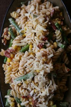 Perfect for a wedding or baby shower...heck, any occasion will do! Sun-dried Tomato and Asparagus Pasta Salad