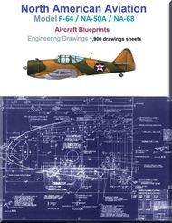 North American P-64 / NA-50A / NA-68  Airplane Aircraft  Engineering Drawings Blueprints -  DVD