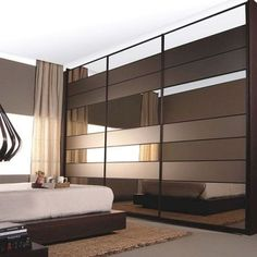 40 Sliding Wardrobe Door Design Ideas for Bedroom That You Must Imitate Sliding Wardrobe Designs, Wardrobe Design Bedroom, Sliding Wardrobe Doors, Bedroom Furniture Design, Closet Designs, Master Bedroom Design, Modern Bedroom, Bedroom Ideas, Modern Closet