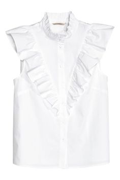 Frilled sleeveless blouse | H&M