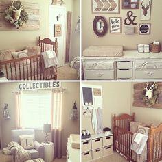 Wood Wall Nursery Collage Gray Boy Rustic Furniture