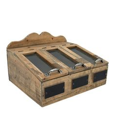 Another great find on #zulily! Rustic Wood Utensils Drawer #zulilyfinds