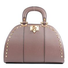 Click Here and Buy it on Amazon.com Price:	$45.99 Ruby Designer Inspired Fashion Unique Turn Lock Detailed Golden Square Rivet Studded Structured Solid Tote Satchel Office Handbag Purse with Adjustable Crossbody Shoulder Strap in Light Taupe Ruby,http://www.amazon.com/dp/B00F25KV02/ref=cm_sw_r_pi_dp_r0slsb0VKZ8XFT2N