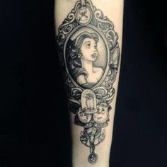 Beauty and beast tattoo