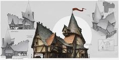 Brightlodge House, art concept for Fable Legends Fantasy City, Fantasy House, Fantasy World, Environment Concept Art, Environment Design, Game Environment, Theatrical Scenery, Dungeons And Dragons Game, Architecture Background