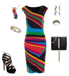 """""""Striped Multi-Colored"""" by donnalynnginn ❤ liked on Polyvore featuring Dorothy Perkins"""