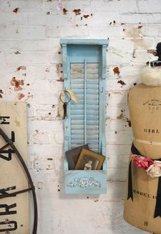 Painted Cottage Chic Shabby Farmhouse Mail and Key Holder [HD118] - $32.00 : The Painted Cottage, Vintage Painted Furniture