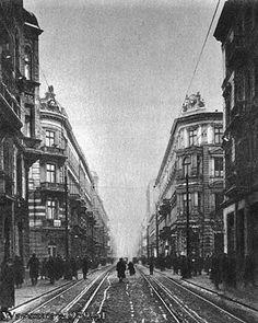 ulica Złota, widok od Marszałkowskiej w kierunku zachodnim