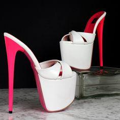 Mules Shoes, Heeled Mules, High Platform Shoes, Hot Heels, Sexy Heels, Gorgeous Heels, Metallic Heels, Thick Heels, Ankle Strap Heels
