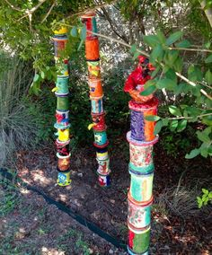 Painted Totem Pole Craft. A great idea for a collaborative project and a history lesson at the same time.