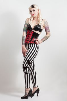 Stripes & Bats leggings, gothic, deathrock, £39.99 http://www.emeraldangel.co.uk/stripe-bat-leggings.html