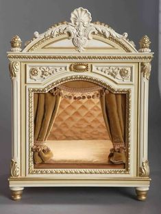 It's fair to say both pet and owner would love a regal bed such as this one ༻⚜༺ Handmade Luxury Designer Dog Beds For Small Dogs Dog .
