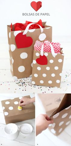 50 Romantic DIY Valentine's Day Gift Wrapping Ideas - Page 19 of 150 - CoCohots Creative Gift Wrapping, Wrapping Ideas, Creative Gifts, Craft Gifts, Diy Gifts, Craft Bags, Paper Gifts, Diy Paper, Diy Gift Bags Paper