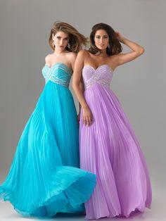 Stunning Beaded A-line Sweetheart Floor-length Pleated Chiffon Prom Dress