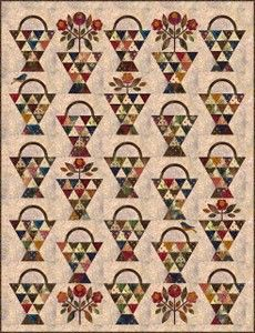 Paint Basket quilt pattern by Edyta Sitar of Laundry Basket Quilts Antique Quilts, Vintage Quilts, Quilting Projects, Quilting Designs, Laundry Basket Quilts, Laundry Baskets, Sewing Baskets, Quilts Online, Painted Baskets