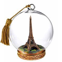 Eiffel Tower Globe ornament - Want!
