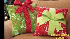 Cojines regalos de Navidad - Holiday Gift Box Accent Pillow - Think I could make these for next year Noel Christmas, Winter Christmas, All Things Christmas, Green Christmas, Christmas Cushions To Make, Christmas Cushion Covers, Rustic Christmas, Christmas 2019, Christmas Sewing Projects