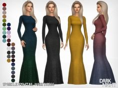 Sparkle Fishtail Maxi Dress Found in TSR Category 'Sims 4 Female Formal'