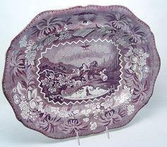 Staffordshire Millennium Transferware Platter 19c : Lot 441